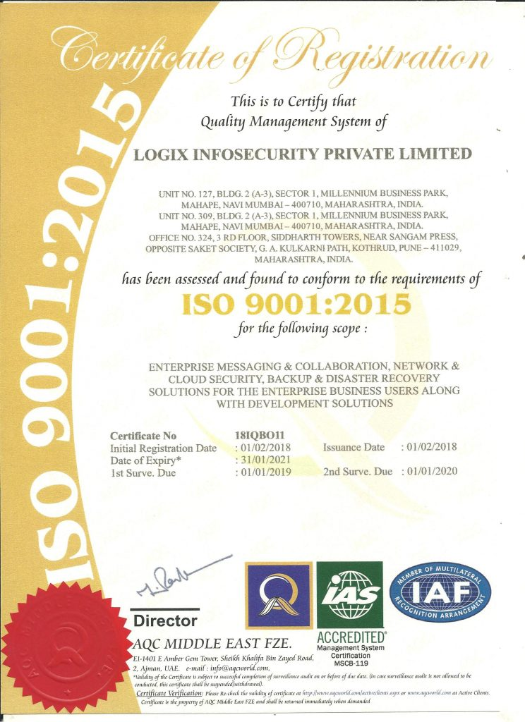 Logix is a ISO Certified Information Technilogy Company